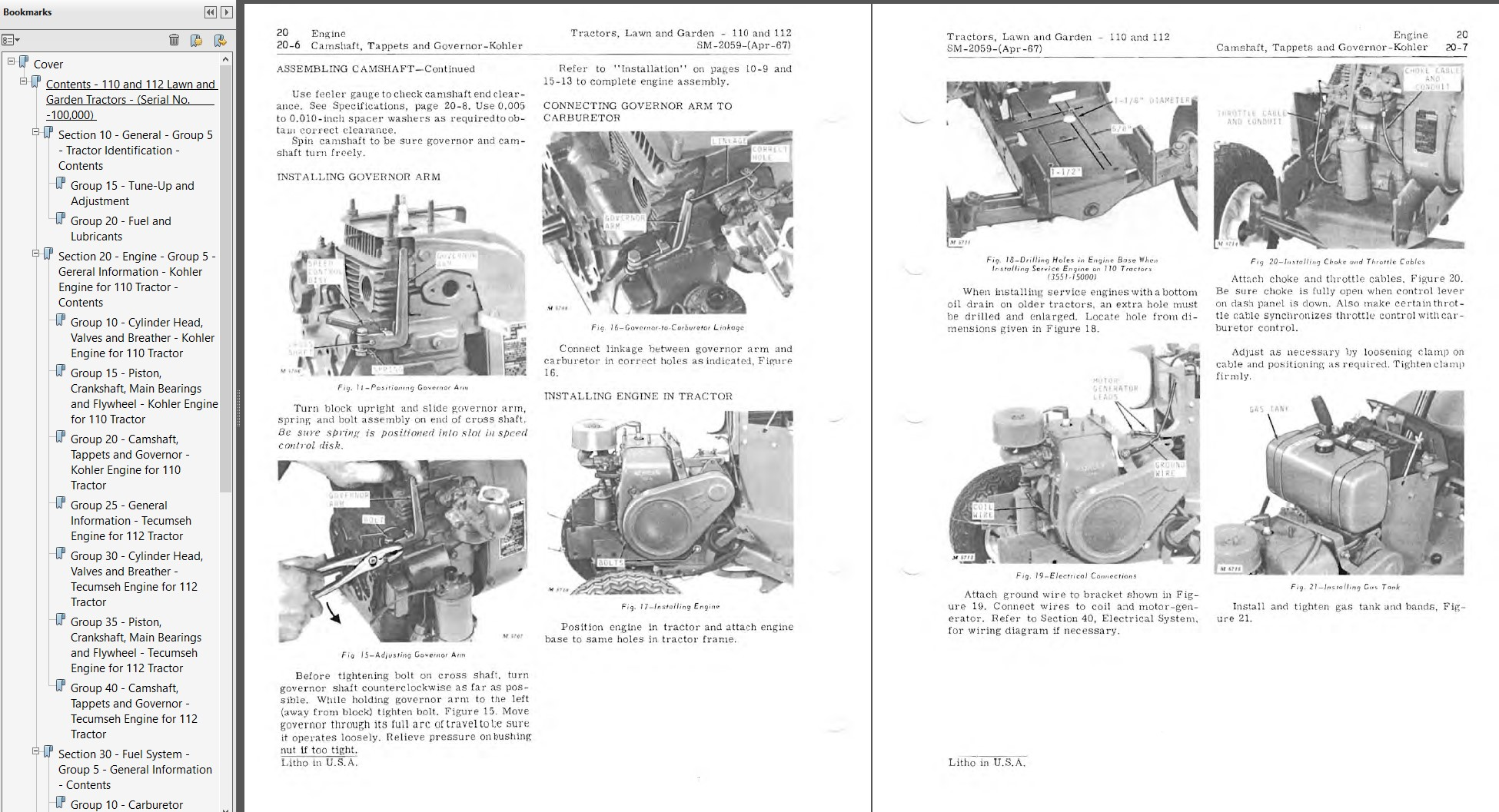 John Deere 110, 112 Lawn and Garden Tractor Service Manual