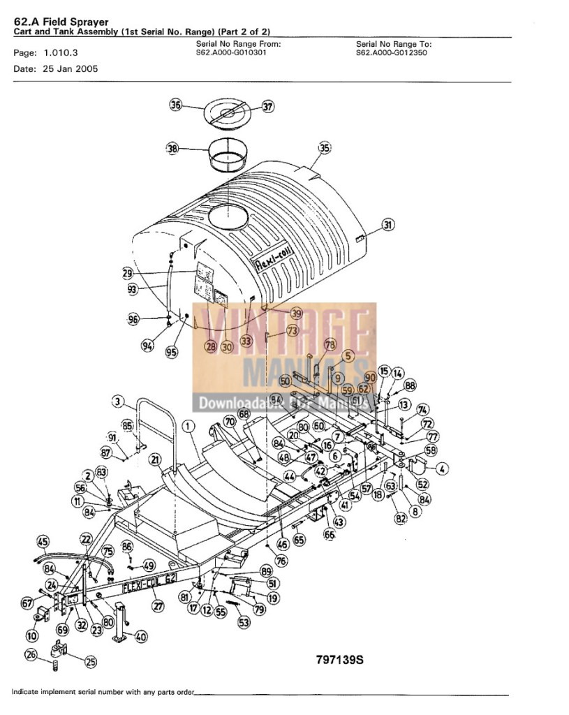 sample pages Flexi Coil 62 Sprayer Parts Manual PDF