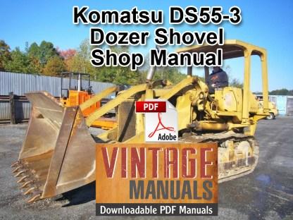 Komatsu DS55-3 Dozer Shovel Shop Manual