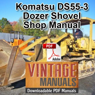 Komatsu DS55-3 Dozer Shovel Shop Manual