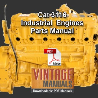 CAT 3116 Engine Parts Manual