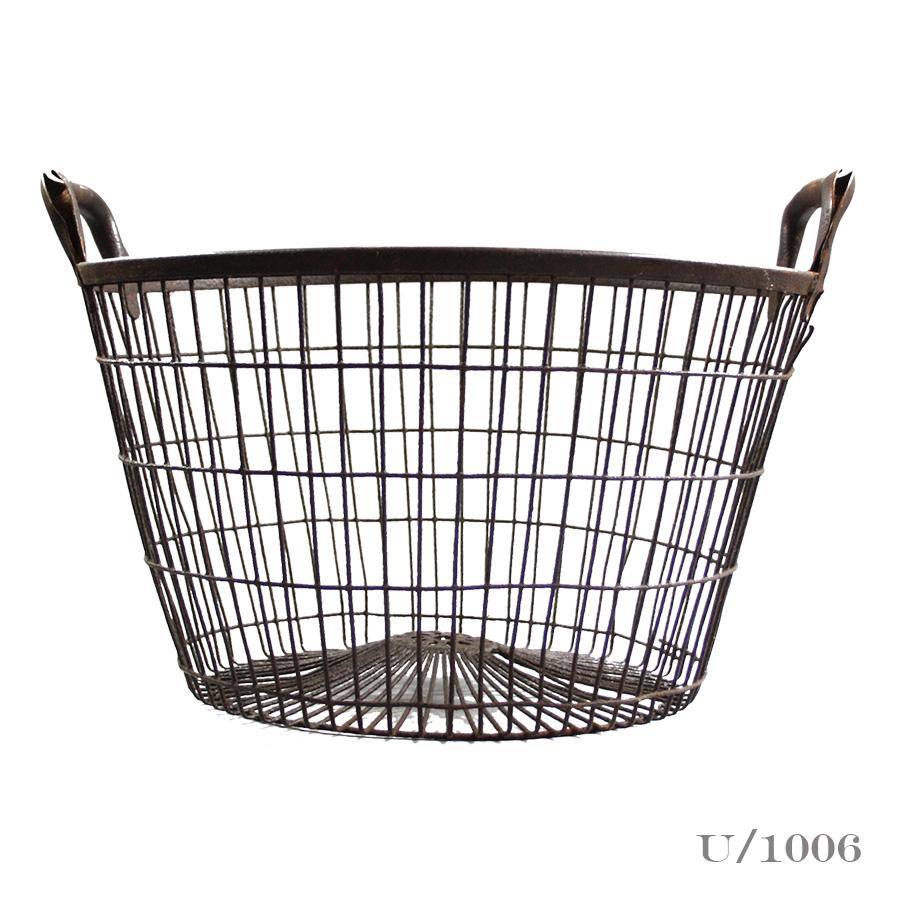 Vintage Round Wire Oyster Basket