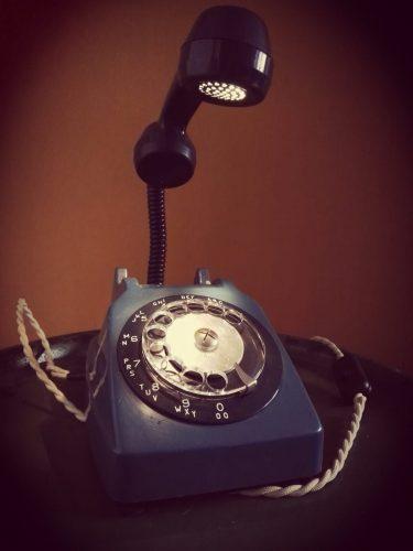 retro telefoon draaischijf