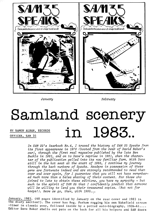 Early History of Sam35Speaks