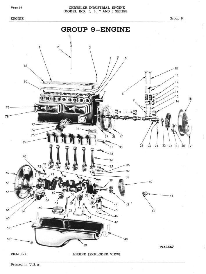 Chrysler Six Cylinder Engine Maintenance and Parts Manual
