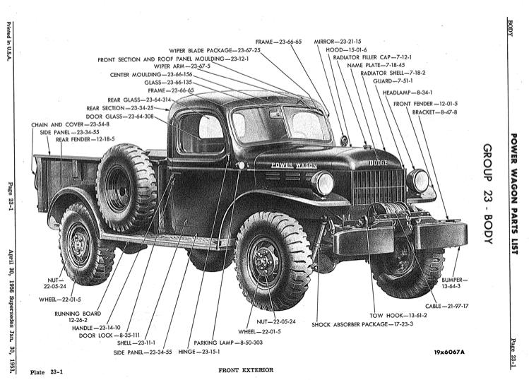 1947-1956 Dodge Power Wagon Truck Parts Catalog PDF