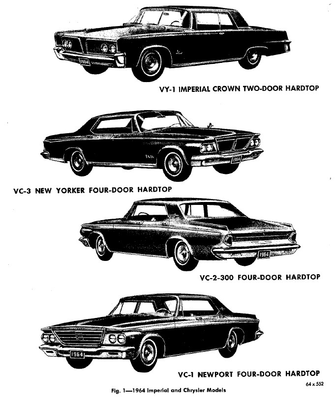 1964 Chrysler and Imperial Service Repair Manual PDF