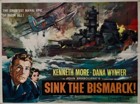 Image result for sink the bismarck! movie poster