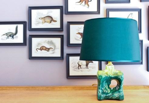 Vintage Lampe mit Keramikfuß