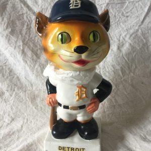 Detroit Tigers MLB Extremely Scarce Mascot Nodder 1962 Vintage Bobblehead White Base