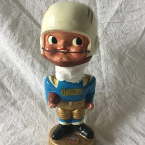 San Diego Chargers AFL Earpad 1965 Vintage Bobblehead Extremely Scarce NFL Nodder