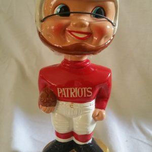 New England Patriots Extremely Scarce Gold Base Nodder 1968 Vintage Bobblehead