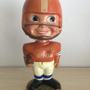 Denver Broncos 1965 Vintage Bobblehead Extremely Scarce Nodder
