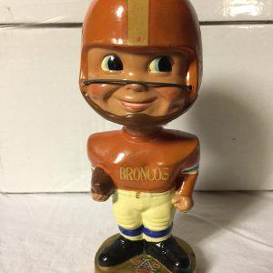 Denver Broncos NFL Extremely Scarce AFL Nodder 1965 Vintage Bobblehead Gold Base