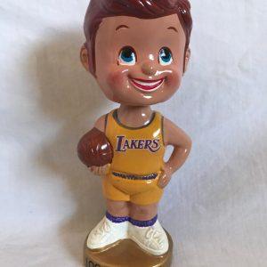 LA Lakers NBA Extremely Scarce Nodder 1968 Vintage Bobblehead Gold Base