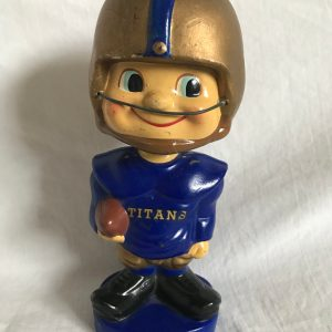 New York Titans Baggy Shirt Toes Up Extremely Scarce AFL Nodder 1962 Vintage Bobblehead