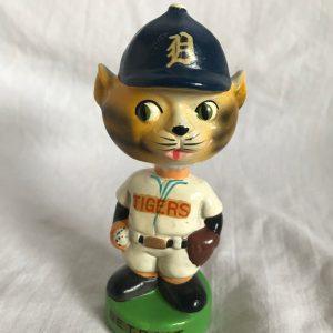 Detroit Tigers MLB Mascot Extremely Scarce Mini Nodder 1961 Vintage Bobblehead Green Base