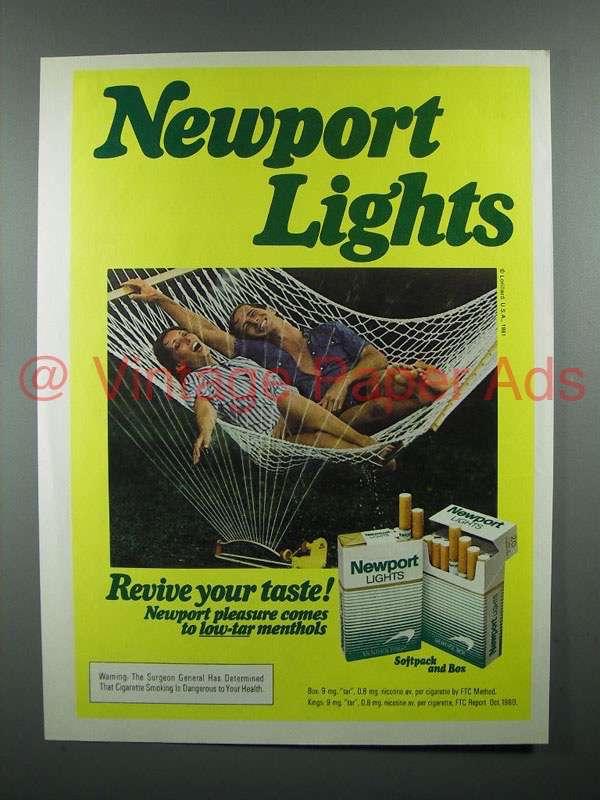 1981 Newport Lights Cigarette Ad Revive Your Taste