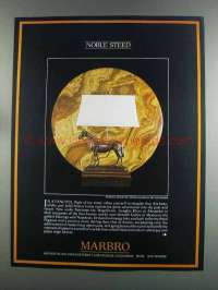 1982 Marbro Lamp Ad - Noble Steed