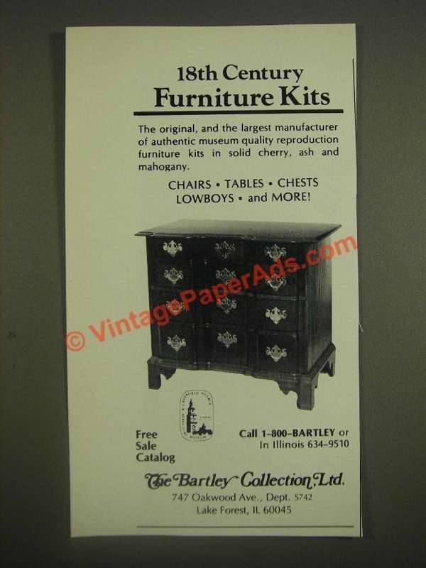 office chair customer reviews spandex covers for banquet chairs 1985 the bartley collection furniture ad - 18th century kits