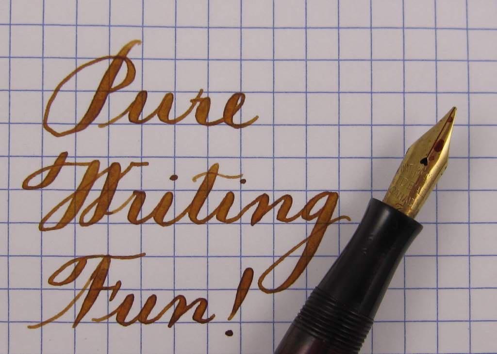 flex fast writing vintage