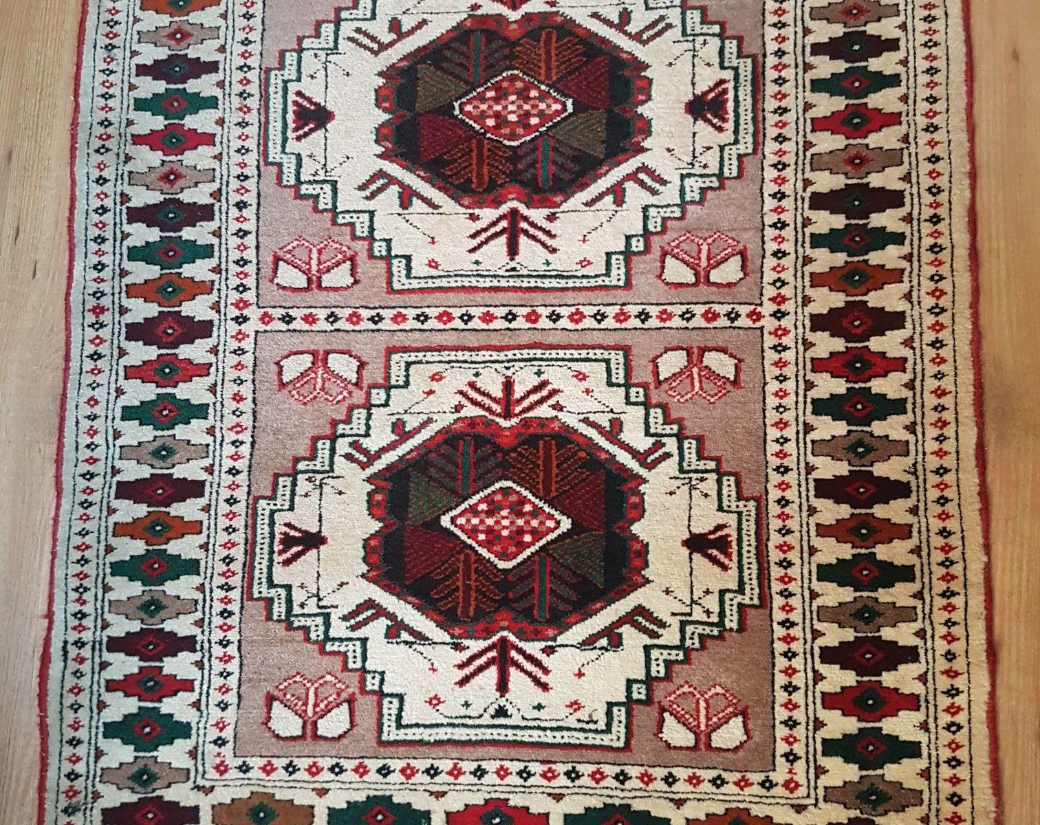 vintage handgeknoopt perzisch tapijt