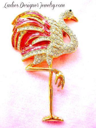 d2e8af0cddc Vintage Pink Enamel Flamingo Brooch Pin Brooches Pins, Flamingos Tropical Bird  Brooch, Women's Ladies