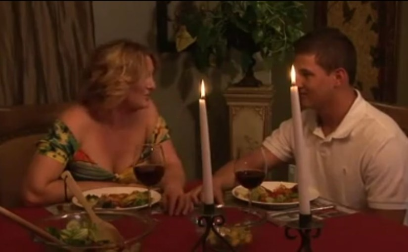 Sexuality Comes After Dinner between Stepmom and Stepson