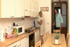 Hard Kitchen Fuck For Blonde Stepmom! [Vintage Amateur]