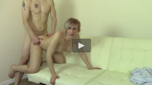 Sons Friend Pounding his Stepmom in front of him