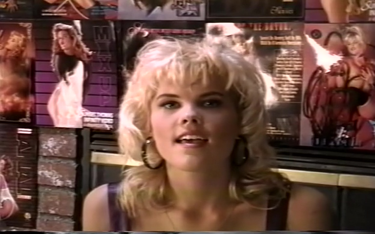 "Sunset Thomas from "" Double Penetration Virgins 1 "" 1994 scene 3"