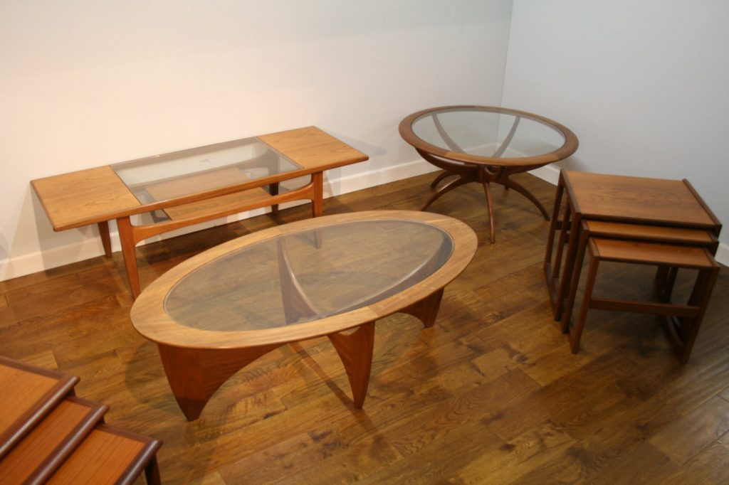 G Plan 60s and 70s coffee tables and nests
