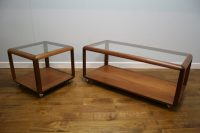 70s G Plan teak and glass coffee tables - Vintage Retro