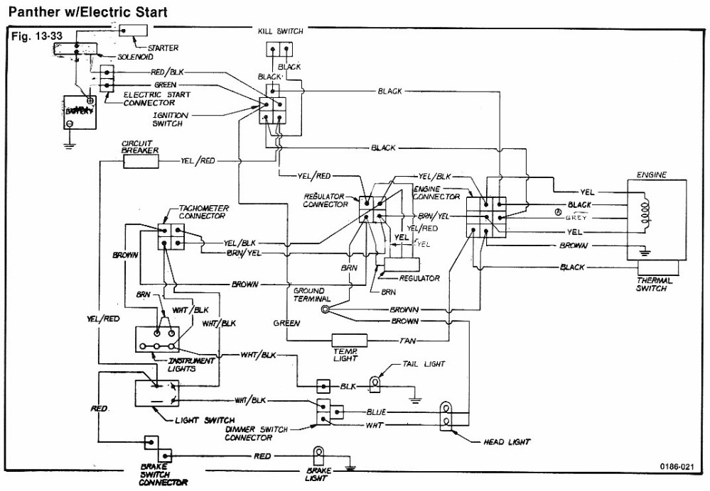 medium resolution of 1974 panther electric start wiring diagram caterpillar