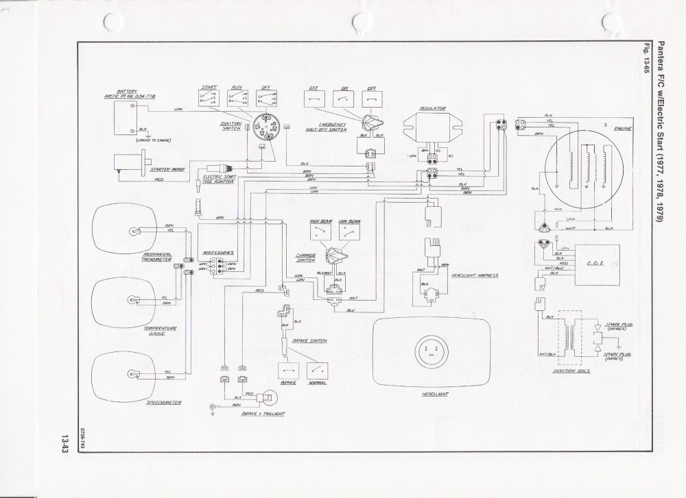 medium resolution of 1971 arctic cat wiring diagram