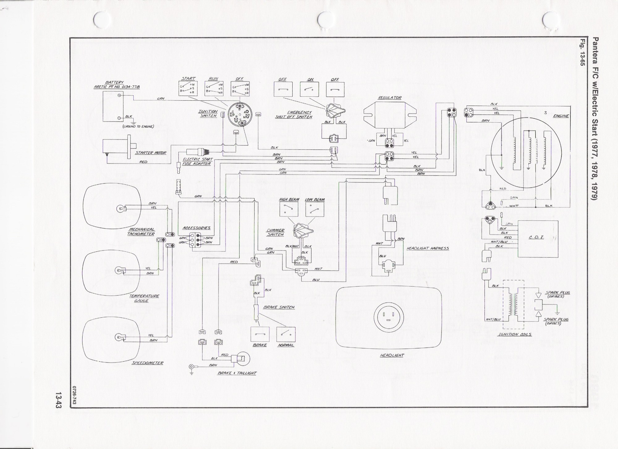 hight resolution of 1971 arctic cat wiring diagram