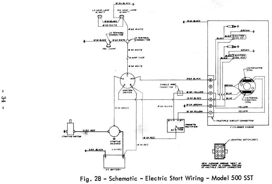massey ferguson 35 wiring diagram 7 way plug 240 manual e books ferguson500 sst electric start