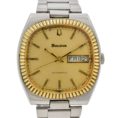 Pre-Owned Bulova Day/Date Automatic Men's Watch 4433902 swiss