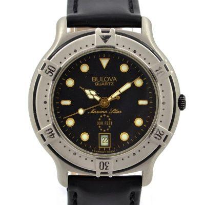 Vintage Bulova Marine Star Mens Quartz Watch