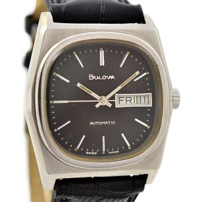 Vintage Bulova Classic Stainless Steel Mens Automatic #6175448 Watch