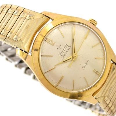 Zodiac Hermetic Custom Manual Mens Watch gold plated