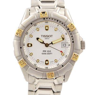 Tissot PR100 100m/330ft Date 18kgp/Stainless Steel Quartz Midsize Men's Watch