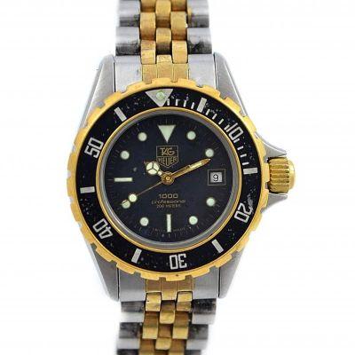Tag Heuer 1000 Series 18kgp/Stainless Steel Quartz Ladies Diver Watch