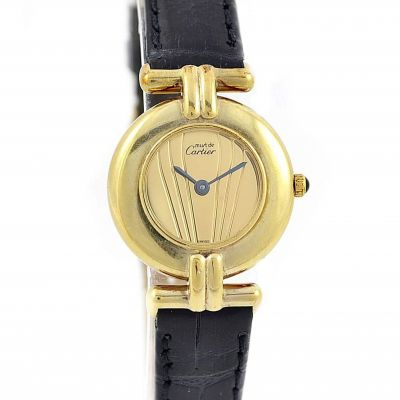 Cartier Vermeil Rivoli 92.5 Silver/gold plated Quartz Ladies Watch