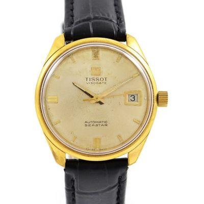 Vintage Tissot Seastar Visodate Mens Gold Plated Automatic Watch