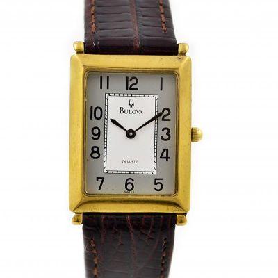 Vintage Bulova Classic 1624 Gold Plated Midsize Quartz Dress Watch