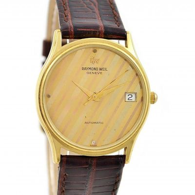Vintage Raymond Weil Geneve 2812 Gold Plated Automatic Midsize Watch