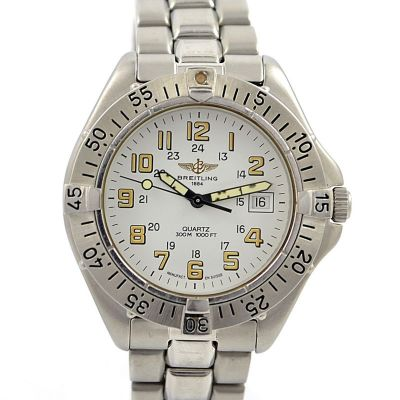 Vintage Breitling 1884 Classic A57035 Stainless Steel Quartz Mens Watch