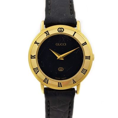 Vintage Gucci 3000L Gold Plated Quartz Ladies Watch