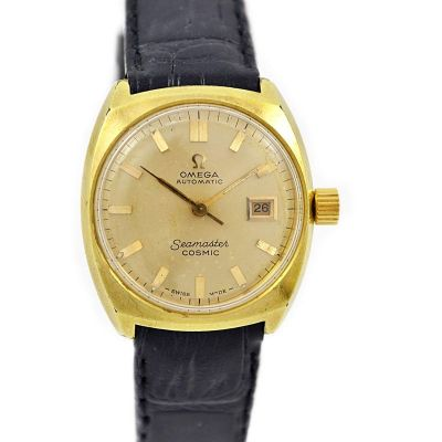 Vintage Omega Seamaster Cosmic Gold Plated Automatic Ladies Watch womens